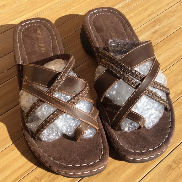 42bc65dce5c0 comfort plus by Predictions Shoes - Comfort Plus Predictions Spruce Low  Wedge Sandals